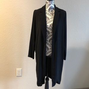 Long coat in back by Forever 21